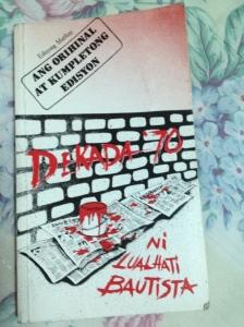 """Dekada 70"" by Lualhati Bautista"