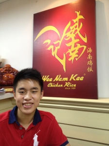 Dinner at Wee Nam Kee, one of the best hainanese chicken rice restaurants I've ever eaten in! :D