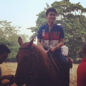 Riding a horse --- just one of the unique and novel experiences i had in SIngapore