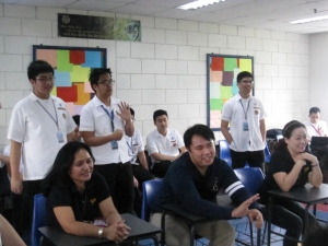 Our class mentors seated as we entertained them and showed them our gratitude during the classroom program :)