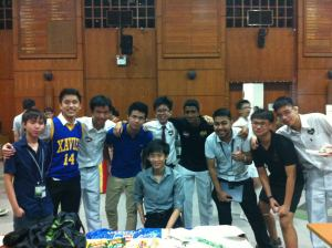With the Singaporeans!! Thank you so much to Raffles Institution, the org team and the caretakers! :D
