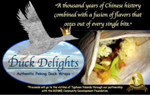 Proud of what our group has come up with, Duck Delights!