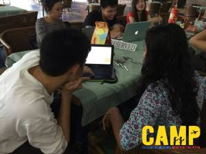 During the final CAMP meet-up day before mentees submitted their respective applications