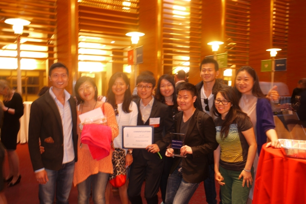 The winning team of the Wharton Business Plan Competition, SlideJoy