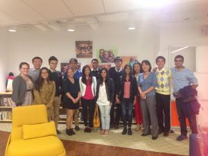 At the GlobalGiving office with CEO Mari Kuraishi